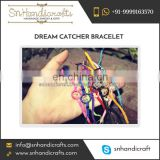 Wholesale Supplier of Eye Catching Handmade Dream Catcher Bracelet at Low Price