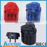 CE approved Top quality travel multi plug without Usb/World travel plugs adaptor China Supplier