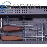 Orthopedic surgical instrument set