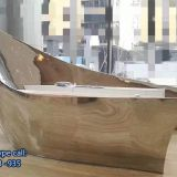 Stainless Steel Dolphin Sculpture Customized Sculpture Geometry Outdoor