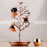Moscow Mule Mug Hanging Tree, Cup Hanging Copper Wire Stand, Kitchen Mug Tree