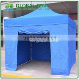 Aluminum Folding Marquee Trade Show Tent Frame 3x3m with Blue Canopy & Valance(Unprinted), 4 full walls with zipper & door