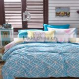 Blue geometric figure printed cotton bedding set wholesale children comforter ccover sets