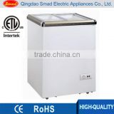 ETL approved commercial Portable sliding glass flat door chest freezer                                                                                                         Supplier's Choice