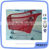 Euro plastic trolley shopping cart with baby seat