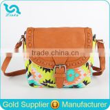 Stock Wholesale Aztec Weave Print Canvas Messenger Bag Hot Sale Womens Canvas Messenger Bag