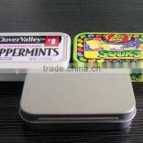 small hinged candy tin box