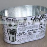CCGB-T113 10L New Available oval Metal ice bucket, tin beer bucket, beer barrel
