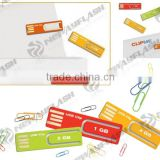Plastic paper clip usb flash drive, mini super thin clip usb flash drive                                                                         Quality Choice