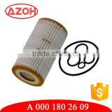Made with Germany paper auto engine parts white paper oil filter element A 000 180 26 09,A0001802609