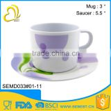 factory price sale melamine saucer set mini plastic tea cups                                                                                                         Supplier's Choice