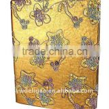Color Threads Flowers Arwork PU Wrapping O Ring Binder Desktop File Folder for Office Stationery Cardboard A4 or FC Size