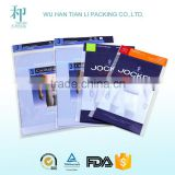 high quality customized printed biodegradable laminating plastic underwear packaging bag