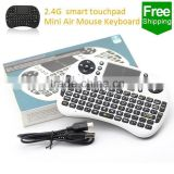 Low cost best seller wireless flexible keyboard & mouse with touch pad