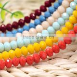 Colorful 2mm to 12mm AAA Quality Wholesales Factory Price Loose Jade Crystal Facted Roundelles Glass Beads for Jewelry Cheapest