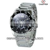 Customized welcome stainless steel men watch with rotation bezel and 10ATM