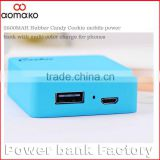 external battery pack 2800mah W208 Cookie candy mini portable power bank for samsung galaxy tab s4