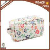 CT901 More Pattern Contact Us Flowers Design Oil Cloth Waterproof Women Cosmetic Bag Fashion Bag For Sale                                                                         Quality Choice