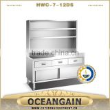 HWC-7-12DS With Drawers and Over Shelves Bench Cabinet