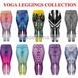high stretch 3d Printed Leggings Sublimation printing Yoga Pants fitness leggings yoga pants