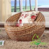 Natural Rattan Cane Wicker Round Lounge Sofa Chair                                                                         Quality Choice
