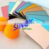 4mm to 6mm thickness tinted Safety backing avilable float glass made colored mirror glass