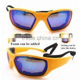 2015 Custom Racing Sports Sunglasses With String, Racing Sports Goggles With Strap