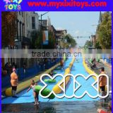 Popular Dual Lanes Airtight Inflatable Water Slip n Slide The City                                                                         Quality Choice