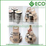 New Design 4 Packs Cardboard Beverage Holder, Drink Carrier, Coffee Cup Carrier