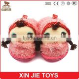 custom made kids indoor slippers children plush animal slippers nice design cute doll plush slippers