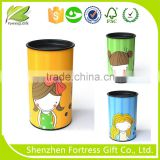 high quality food paper tube with tin cap
