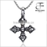 Fashion Hot Men's 316L Stainless Steel Silver Black Cross Pendant for Necklace