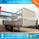 high bed aluminium alloy tri axle 40 to 60 ton capacity bulk cargo stake truck trailer/fence semi-trailer