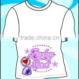 Custom Cheap T Shirt Printing Boy's/ White Screen Printed T Shirt/ Print Shirt Men Wholesale