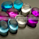 Rainbow Acrylic Table Scatter Pebble Glass Stones in Bulk