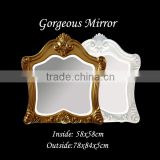 Horizontal mirrors gorgeous hand carved mirror with cast brass accents decorative mirror