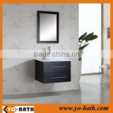 30 inch Single wall-mouted Bathroom Vanity in Espresso, vessel sink vanity, ceramic Sink