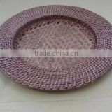 Round bamboo/rattan charger plates