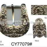Belt Buckle for Leather Products with metal loop and tip clip