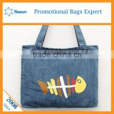 Wholesale customised tote bag denim shopping bag                                                                                                         Supplier's Choice