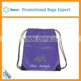 New fashion OEM orders plain small drawstring backpack bag shopping bags