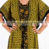 fashion moroccan kaftan /Short Sleeve Design and Embroidered Technics 2 layer moroccan dress