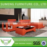 living room luxury sofa set, colorful leather sofa chair, 2012 style modern leather sofa