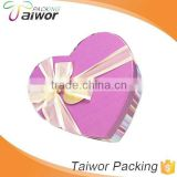 Wholesale Custom Valentine's Day Top Lid Rigid Printing Paper Packaging Heart Shape Gift Box