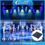 Acrylic/tempered glass interactive waterproof led video Dance floor for Club and Wedding in top sale in 2016