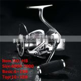 HB Top End Two Speed Size 6000-7000 6+1-10+1BB Worm Shaft All Metel Spinning Fishing Reel