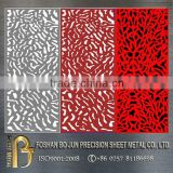 manufacturing custom small decorative folding screen , laser cutting metal screen made in china