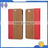 For iphone wood case leather, For iphone 6s stand case mobile phone accessories