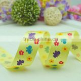 best selling color butterfly printed ribbon for decoration