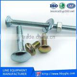 Factory Direct Zinc Plating Round Head Square Neck Carriage Bolt / mushroom head square neck bolts